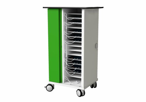 Zioxi charge cabinet with wheels for 16 iPads and tablets up to 11""