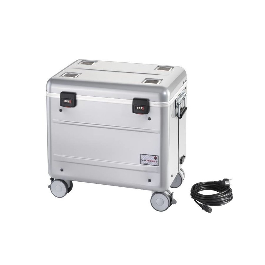 """Mobile charging station for 10x 15"""" Chromebooks, c10 trolley case, with 10 compartments.-2"""