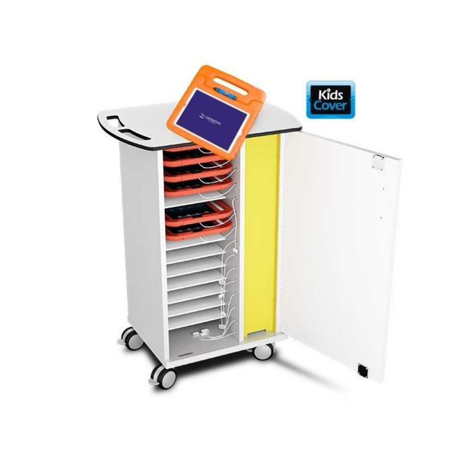 charge trolley for 15 tablets in thick EVA foam cases such as KidsCover-2
