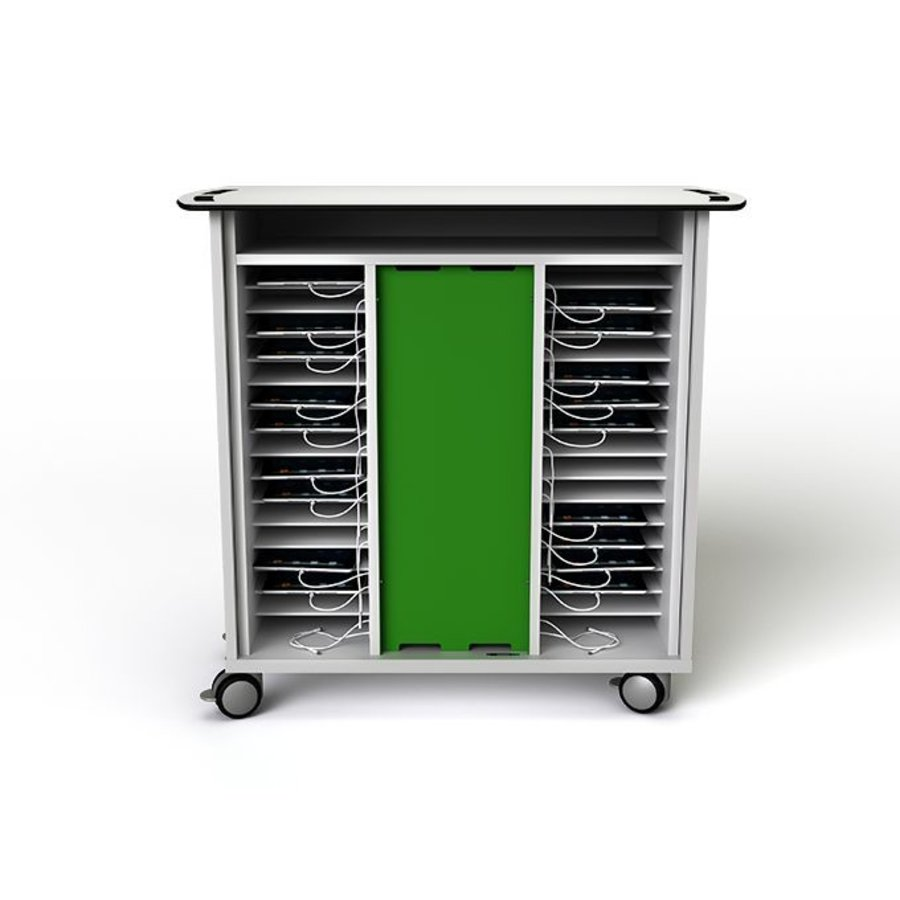 Charging cart for 32 iPads and/or tablets, with wheels and lock-2