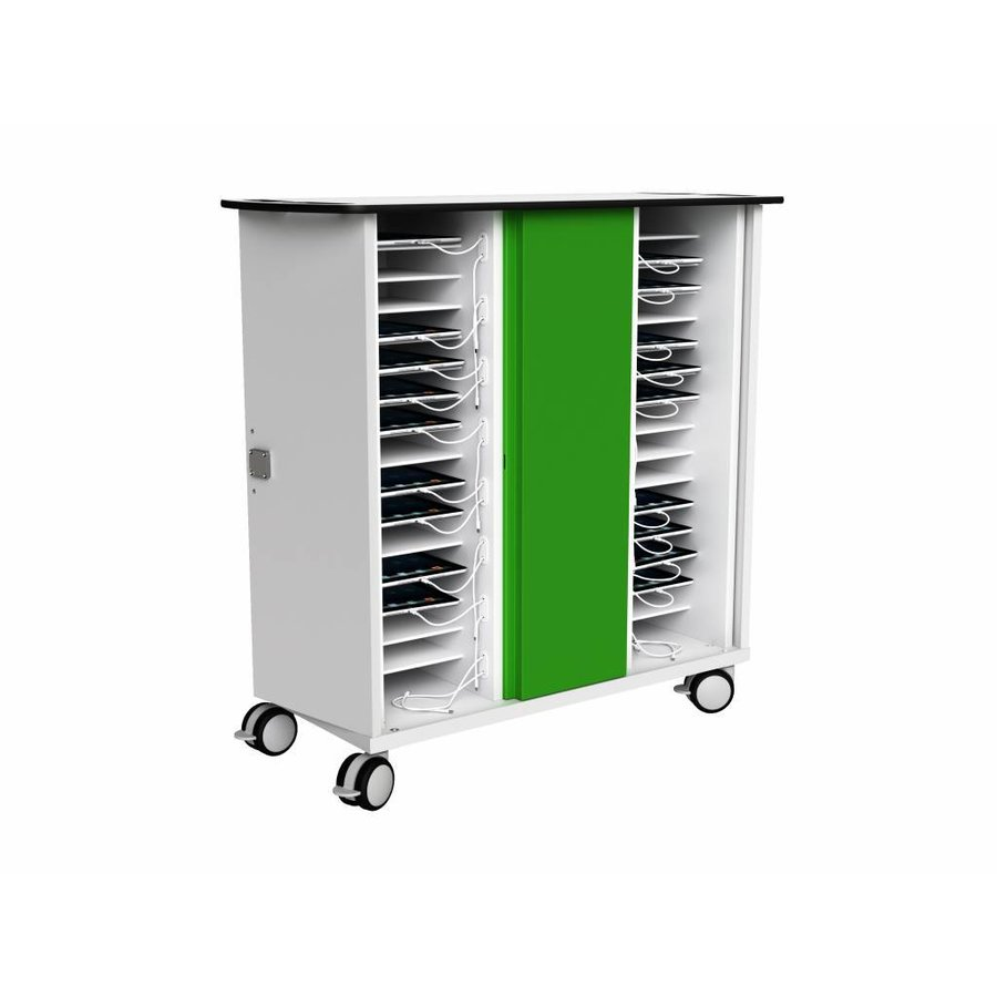 Charging cart for 32 iPads and/or tablets, with wheels and lock-3