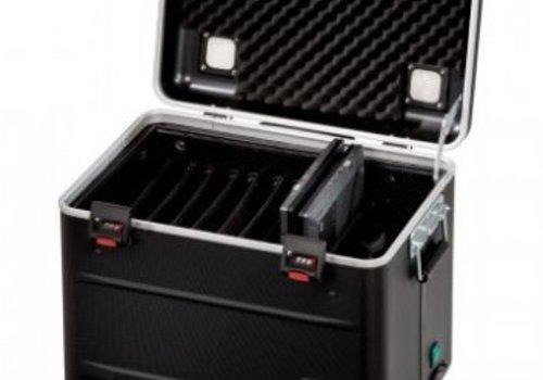 """Parat charge C10 koffertrolley voor 10 Chromebooks van maximaal 15"""" met vakindeling zwart"""
