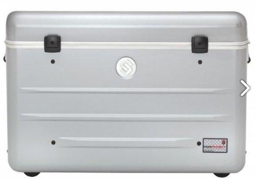 Parat charge N16 Systemkoffer mit Rollen  für Tablets oder Notebooks mit 16 Einschubfächer silbergrau