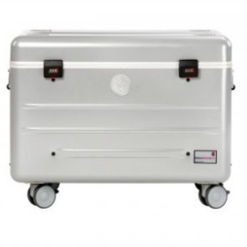 Parat charge N10 trolley case with 10 compartments in silver grey