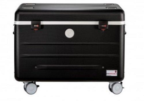 """Parat charge N10 Laptop 15,6""""  Systemkoffer mit Rollen mit 10 Einschubfächer schwarz"""
