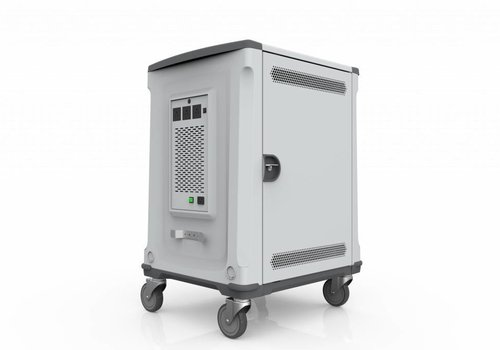 Parat charge & sync U32 trolley cart for 32 Chromebooks en/of tablets silver grey
