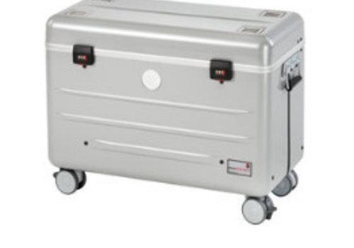 Parat charge & sync i10S koffertrolley voor 10 iPads met kidscover inclusief lightning kabels zonder vakindeling zilvergrijs