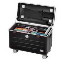 "thumb-Paraproject N16 trolley case for 16 tablets or notebooks until 12"" black-1"