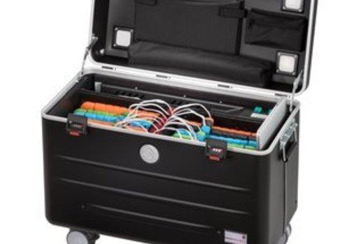 Parat charge N16 trolley koffer voor tablets met 16 vakken in het zwart