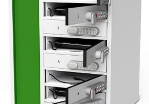 Zioxi charge cabinet for laptops with 8 compartments individually lockable