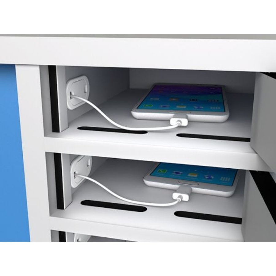 Locker with 10 storage individually lockable compartments for smartphones-2