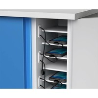 thumb-Smartphone, iPhone, iPod storage cupboard with 16 storage bays and integrated charging function-3