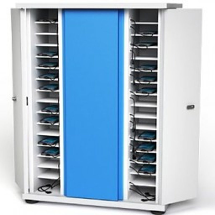 Smartphone, iPhone, iPod storage cupboard with 16 storage bays and integrated charging function-1