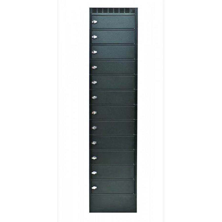 Leba Note Locker 12 charging and storage cabinet with 12 separate, lockable and storage spaces-3