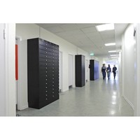 thumb-Leba Note Locker 12 charging and storage cabinet with 12 separate, lockable and storage spaces-4