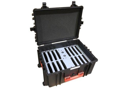 Parotec-IT charge & sync C80 Auto-docking case 16 iPads and tablets in an included protective cover