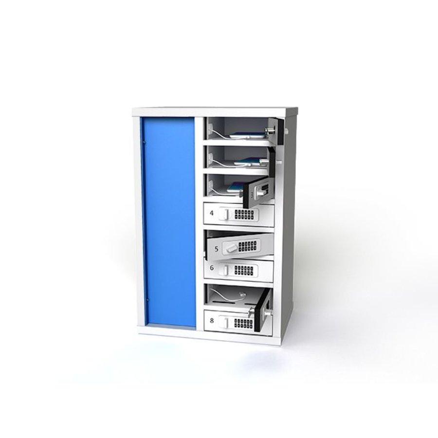 Laadkast met 10 afzonderlijk afsluitbare vakken voor smartphones-1