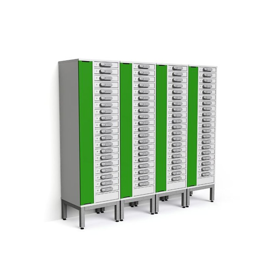 "Charging cabinet with 20 separate lockable compartments for tablets and iPads between 9""-11""-4"