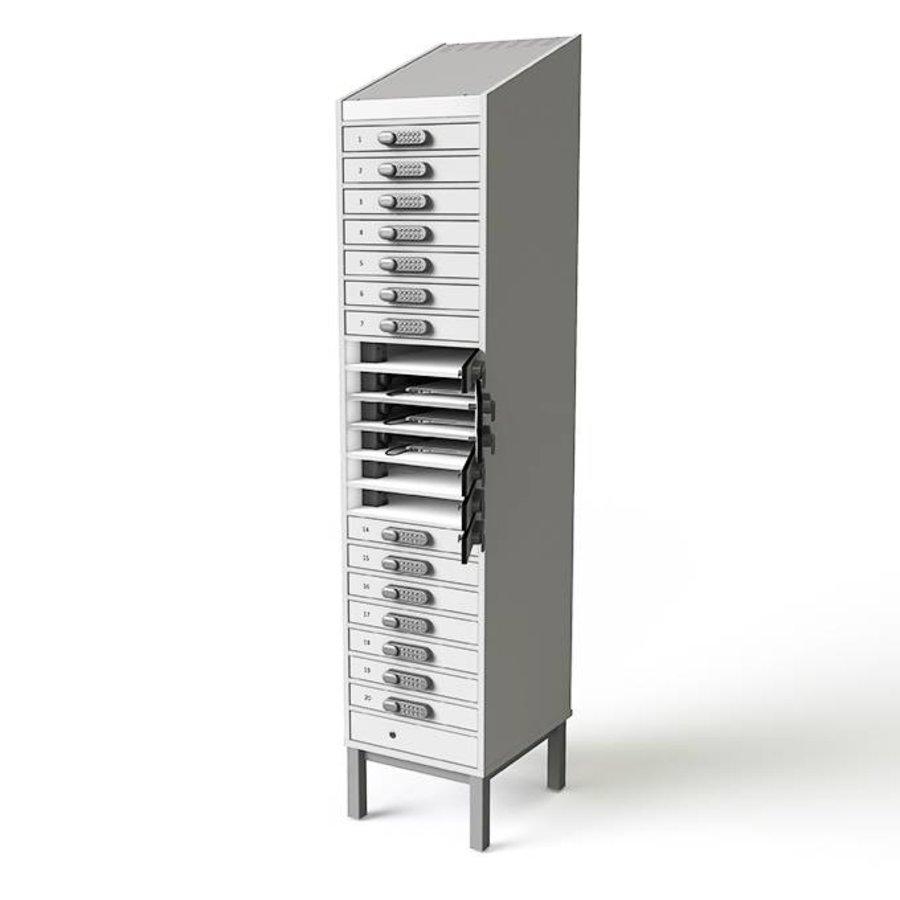 BYOD charging locker 1:1 laptop / tablets 20 individual lockable bays with mains power socket-3