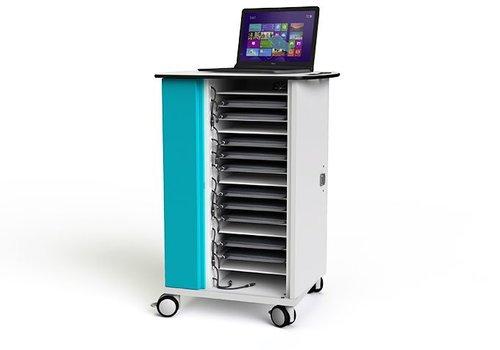 """Zioxi laadkast met wielen voor 15 laptops en notebooks tot 15.6"""""""