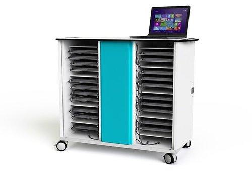 """Zioxi laadkast met wielen voor 30 laptops en notebooks tot 15.6"""""""