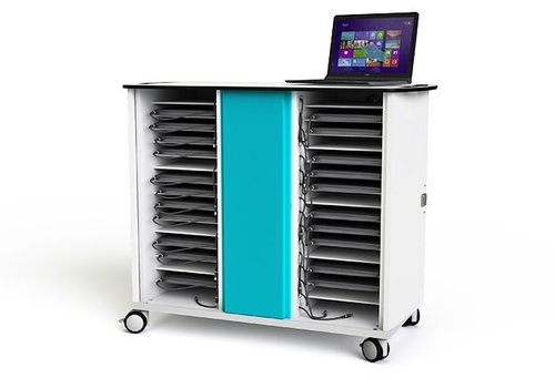 """Zioxi charge cabinet with wheels for 32 laptops and notebooks till 15.6"""""""