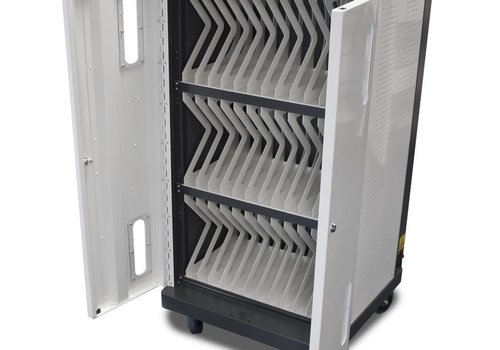Bravour Charging cart for 36 iPads, tablets, notebooks with wheels and lock