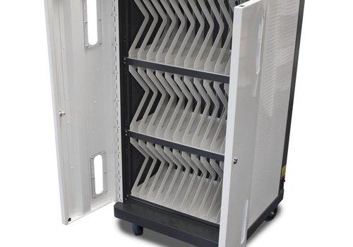 Bravour Ladewagen für 36 iPads, Tablets, Notebooks mit Rädern und Schloss