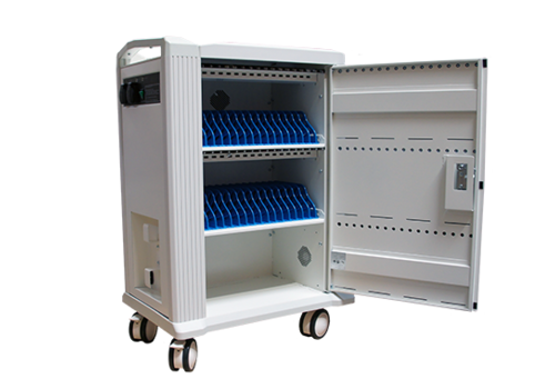 "Parotec-IT charge & sync Tab-32 trolley cabinet with wheels for 32 Tablets iPads between 9"" and 11"""