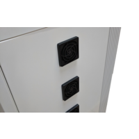 thumb-Mobile charging and synchronization station for 48 Tablets and iPads. Lockable cabinet on wheels with USB connectors to charge with one socket while storing.-5