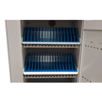 thumb-Mobile charging and synchronization station for 48 Tablets and iPads. Lockable cabinet on wheels with USB connectors to charge with one socket while storing.-3