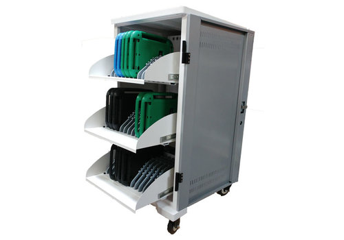 "Parotec-IT charge & sync T36 plus trolley cabinet with wheels for 36 Tablets iPads between 9"" and 11"""