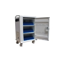 thumb-Mobile charging and synchronization station for 48 Tablets and iPads. Lockable cabinet on wheels with USB connectors to charge with one socket while storing.-1