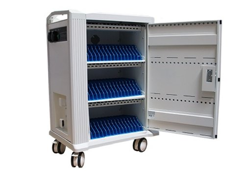 "Parotec-IT charge & sync Tab-48 trolley cabinet with wheels for 48 Tablets iPads between 9"" and 11"""