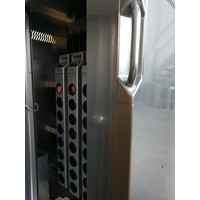 thumb-Mobile charging station for 16 Tablets and iPads. Lockable cabinet on wheels with mains connector strips to charge with one wall socket while storing-7