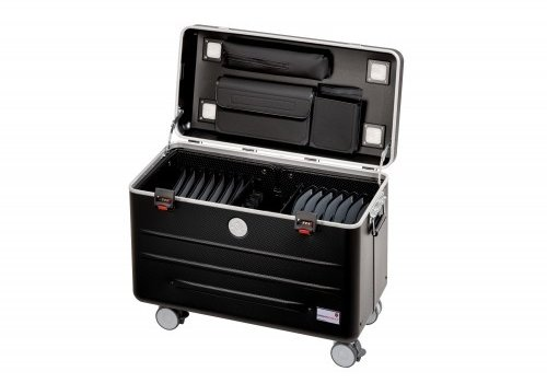 Parat charge N16 trolley koffer voor tablets of notebooks met 16 vakken in het zwart