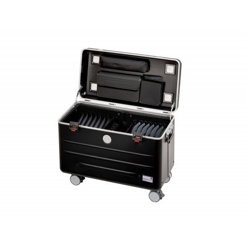 Parat charge N16 trolley case for tablets or notebooks with 16 compartments in  black