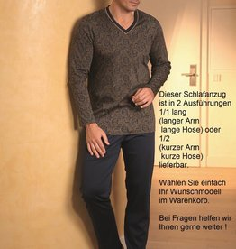 Novila Herren Schlafanzug Novila SIR 8076 kurz 1/2