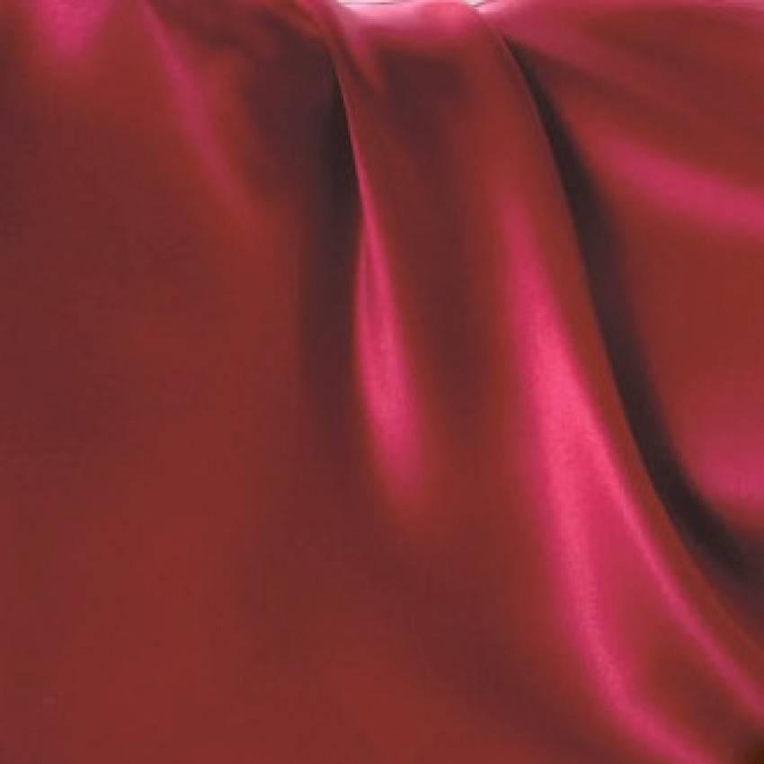 Cellini Design Seidenbettwäsche Mauritius Uni rubinrot