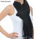 C.O. Original handgewebter  Pashmina Schal 70x200 cm - 100% Cashmere schwarz