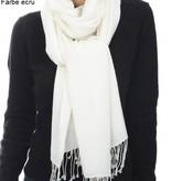C.O. Original handgewebter  Pashmina Schal 70x200 cm - 100% Cashmere creme