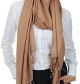 C.O. Original handgewebter  Pashmina Schal 70x200 cm - 100% Cashmere beige