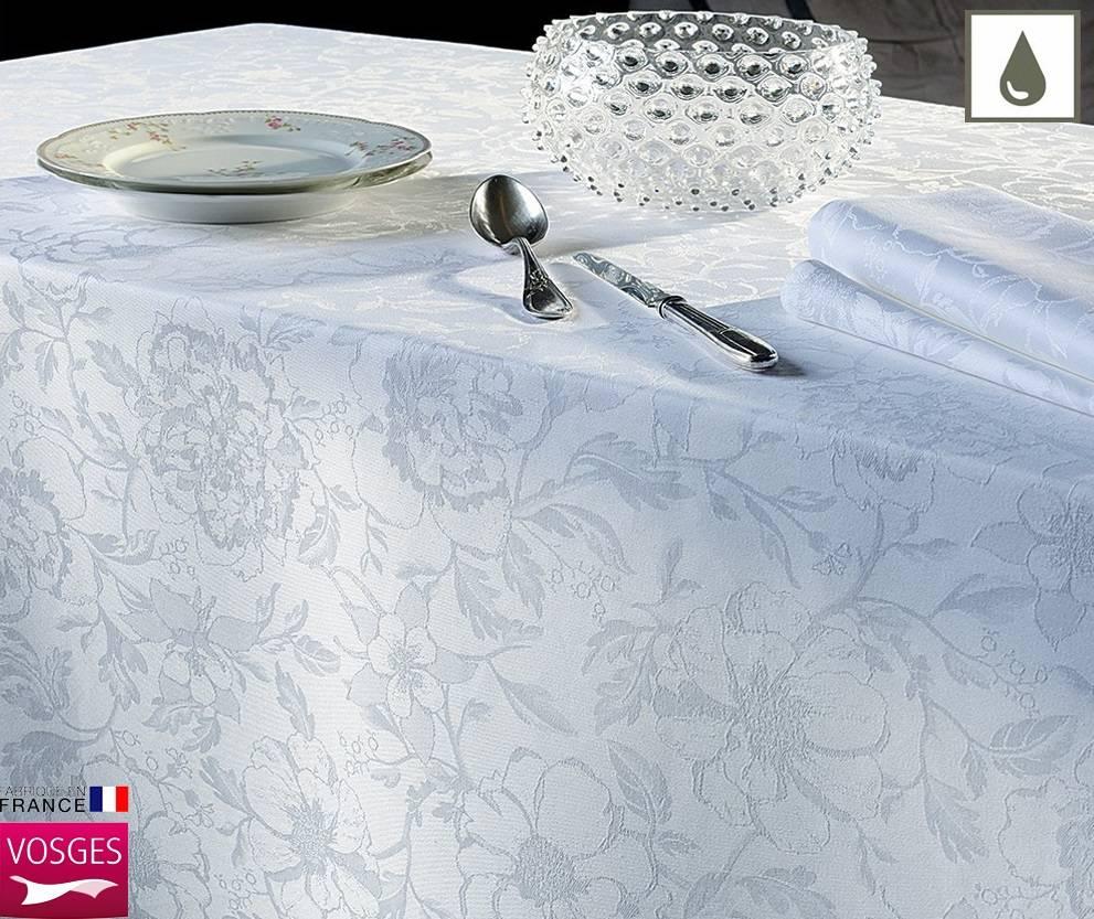 Garnier Thiebaut    GT Tischdecke abwaschbar Mille Charmes blanc