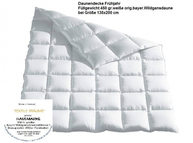 """Daunendecke """"Frühjahr"""" leicht - Hausmarke"""