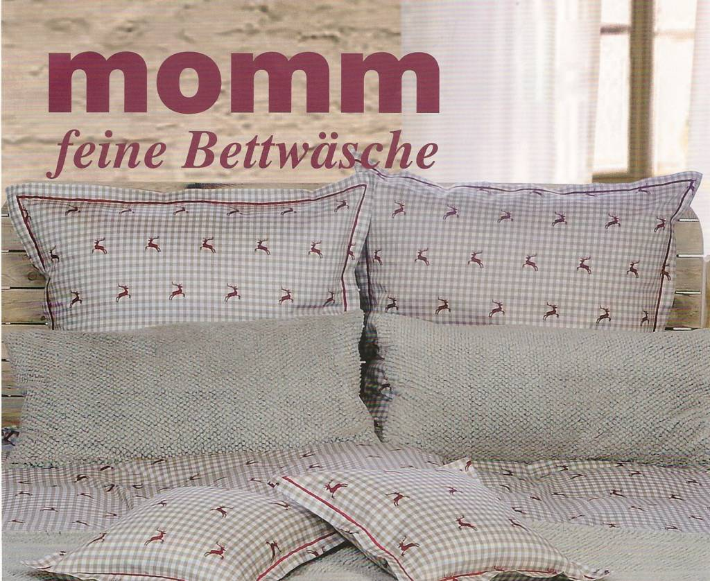 Momm - feine Bettwäsche  Momm Mako-Satin Bettwäsche Barbro Hirsch