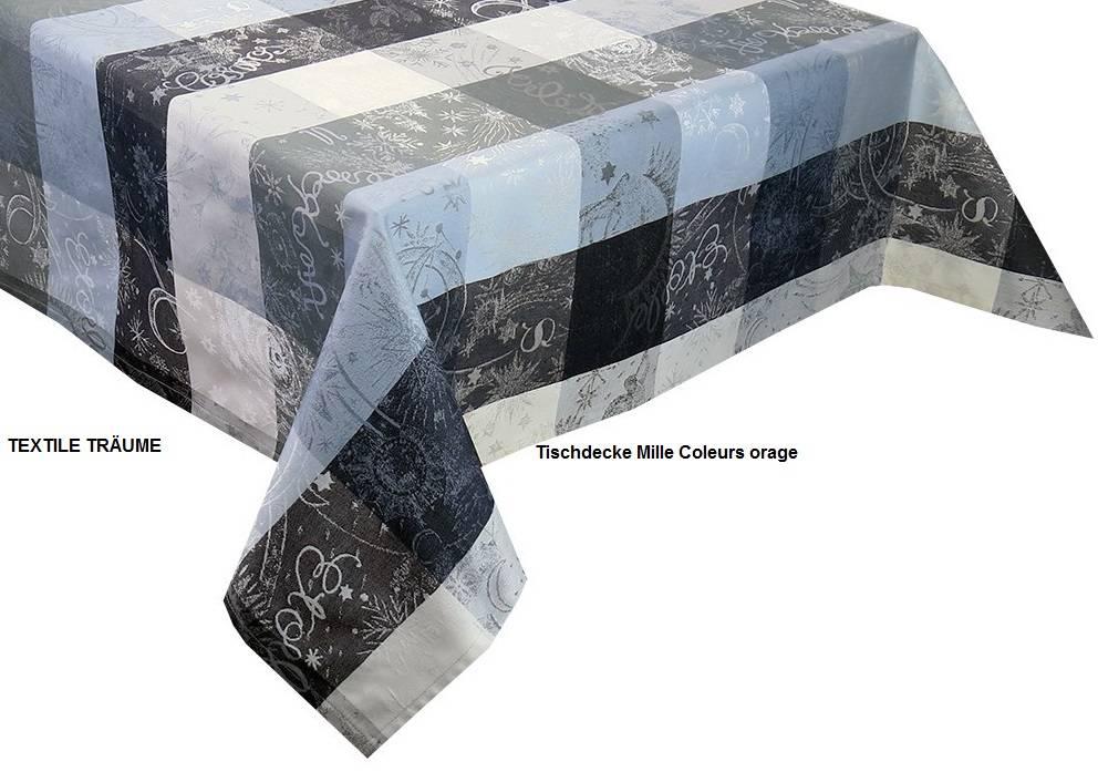 Garnier Thiebaut     GT Tischdecke abwaschbar  Mille Couleurs orage
