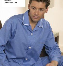 Novila Herren Schlafanzug Pyjama Patrick 8058 mittelblau 105