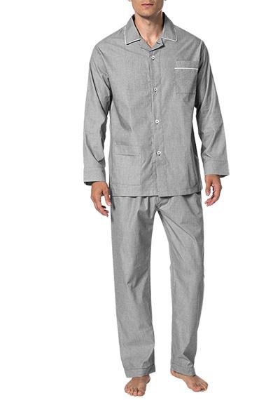 Novila  Herren Schlafanzug Pyjama Patrick 8058 anthrazit 11