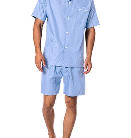 Novila Herren Schlafanzug Pyjama Patrick kurz 8058 hellblau 5