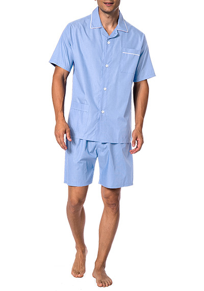 Novila  Herren Schlafanzug Pyjama Patrick 8058 kurz hellblau 5
